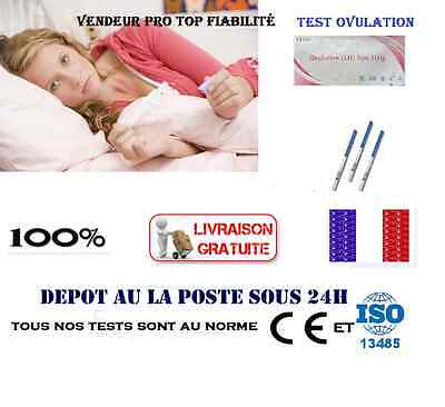 Lot 1 à 100 Tests de D'Ovulation Plus Sensibles++++ Résultat Rapide Top Qualité!