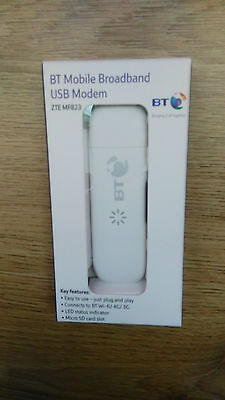 ZTE MF 823 Mobile Broadband  LTE USB STICK 4G Dongle 100Mb UNLOCKED NEW WHITE