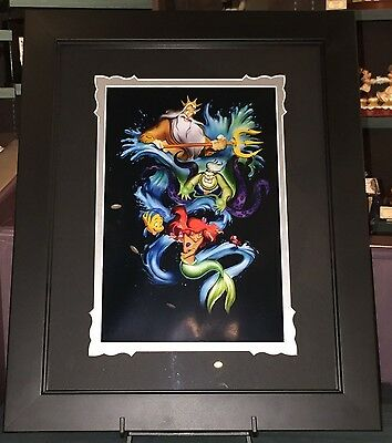 Disney Parks DCA Little Mermaid Ariel's Innocence Deluxe Print by Noah RARE NEW