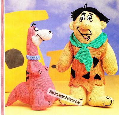 FRED & DINO / DINOSAUR  - DOLL / TOY - 8ply or DK - COPY toy knitting  pattern