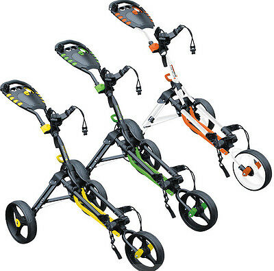 Masters Golf - All New 2016 iCart One Compact Cube 3 Wheel Push Trolley