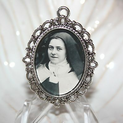 St. Therese Custom Bronze or Silver Rosary Medal or Center/Your Choice!