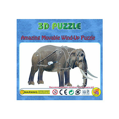 Wind Up Toy Walking 3D Wind Up Puzzle Animal Elephant New kids FREE POST