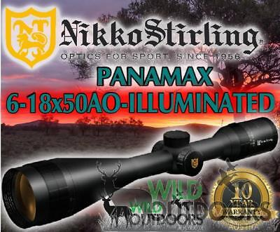Nikko Stirling - Rifle Scope - Panamax - 6-18X50 AO - Illuminated Reticle