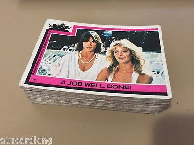 Charlie's Angels - Series 1 - Trading Card NEAR SET (52 of 55) - TOPPS 1977 - VG