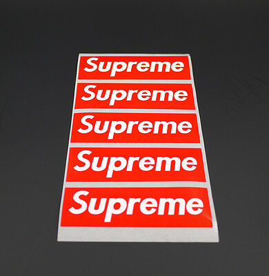 5/10 Pack Supreme Vinyl Sticker Snowboard Luggage Car Laptop Wall Red Box Logo