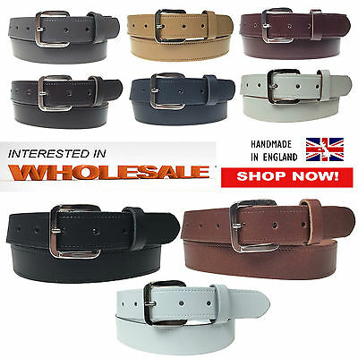 Wholesale Offer 30mm Mens Womens Plain Real Leather Jeans Trouser Wear Belts