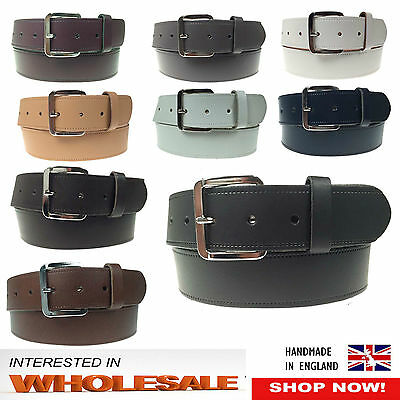 Wholesale Offer 40mm Mens Womens Plain Real Leather Jeans Trouser Wear Belts