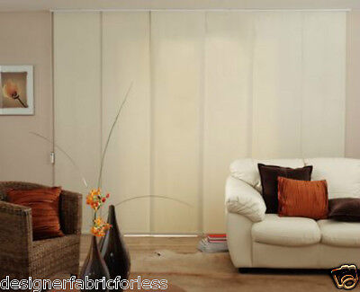 Blockout Extendable Panel Glide Blinds 200cm-360cm W x 230cm D/Complete Package