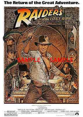 """Raiders of the Lost  Ark ( 11"""" x 17"""" ) Movie Collector's Poster Print - B2G1F"""