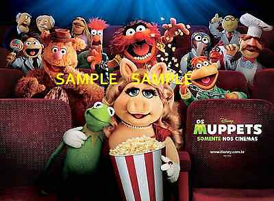 "The Muppets 8.5/"" x 11/""  Movie  Poster T4"