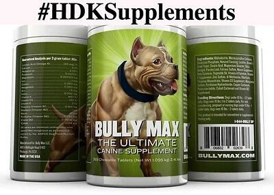 BULLY MAX 1 Year Supply 1 Btle 365 Chew tablets*Authorized Seller*