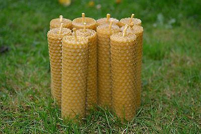 """Handmade Pure Beeswax Candles """"set Of 10 Candles"""" 100 % Organic"""