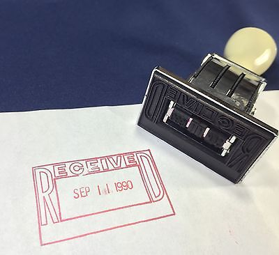 Vintage Shachihata Xstamper Dater 1979-1990 Date Stamp Month Day Year Received
