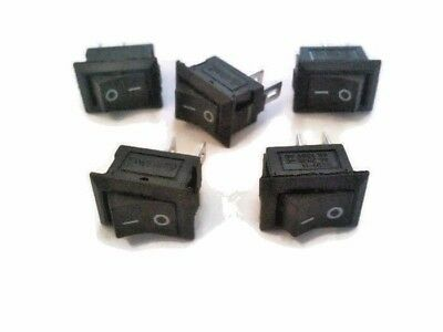 5Pcs ON/OFF Rocker Switch Panel Mount 6A 125V AC KCD1-11