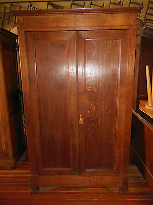 """Antique French LOUIS PHILIPPE Oak Armoire Beautiful Wood H 88"""" x W 54"""" 1850's"""