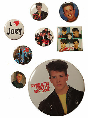 JOEY- New Kids on the Block Vintage Buttons 90's Various
