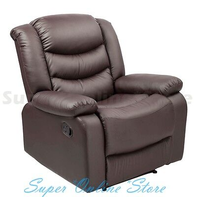 Brand New Luxury PU Leather Recliner Chair - Colour : Brown