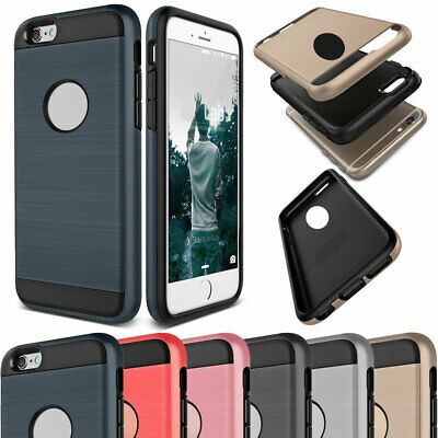 Shockproof Hybrid Rubber Brushed Slim Case Cover For iPhone 6s 7 8 Plus 4s 5s SE