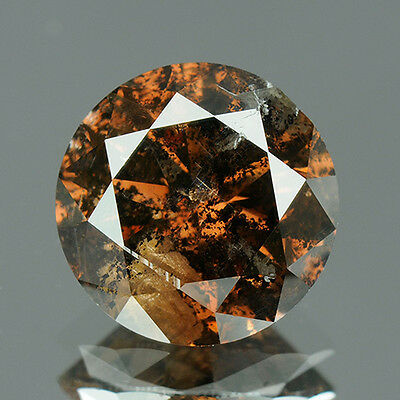 2.05 cts. Certified Round Cut Deep Cognac Brown Color Loose Natural Diamond 7887