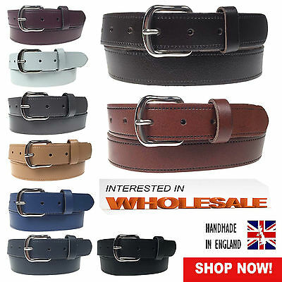 30mm Best Wholesale Offer Of Unisex 100% Real Leather Belt Jeans Wear Made In UK