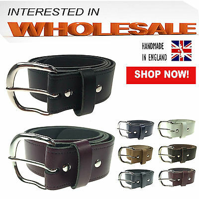 40mm Best Wholesale Offer Of Unisex 100% Real Leather Belt Jeans Wear Made In UK