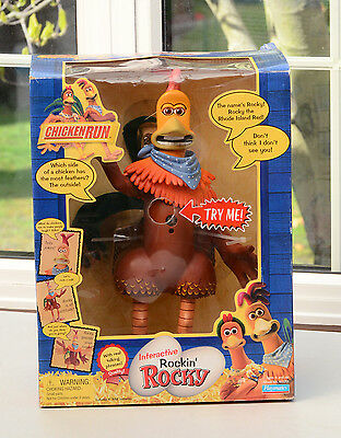 Playmates Interactive Rockin' Rocky from Chicken Run Box & Instructions RARE!