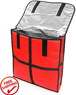 New Star Foodservice Pizza Delivery Bag Aluminum Insulation Velcro 22 X 22 X 5