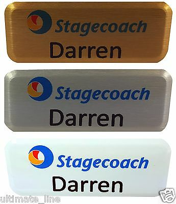 Personal ID Badge, Company Logo, Hen-Stag Nights,Staff Name Badge With Pin
