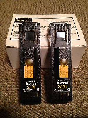 New Box Of 2 Bussmann Sami-6I Indicating Fuse Cover 600V