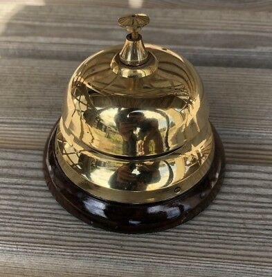 Desk Bell ~ Reception Bell ~ Table Bell Made Of Solid Brass