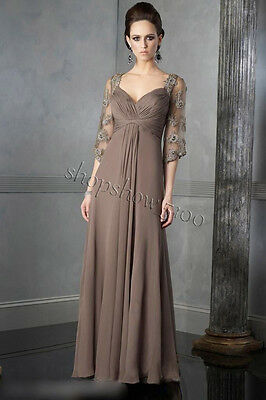 New Elegant Chiffon Mother Of The Bride Dress Long Party Evening Gown Plus Size
