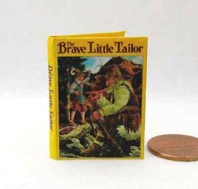 THE BRAVE LITTLE TAILOR 1:6 Scale Readable Illustrated Dollhouse Miniatures Book