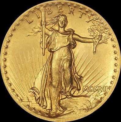 1907 $20 Gold St. Gaudens High Relief CAC & PCGS MS 63