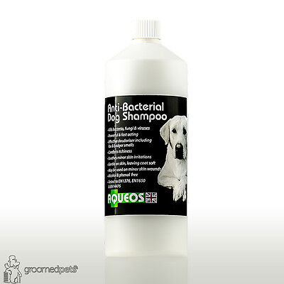 Aqueos Anti-Bacterial Dog Shampoo, Kills Bacteria, Fungi&Viruses, Anti-Itch, 1L