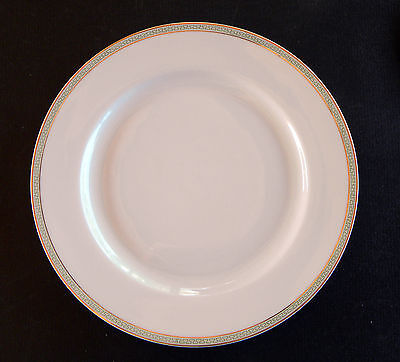 "HEINRICH & CO.  ~ SELB BAVARIA ~ GREEN ~ GREEK KEY - GOLD BAND 8 1/2"" PLATE (s)"