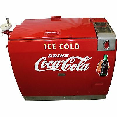 Coca-Cola Westinghouse WE-6 Cooler w/Porcelain Water Fountain Addition