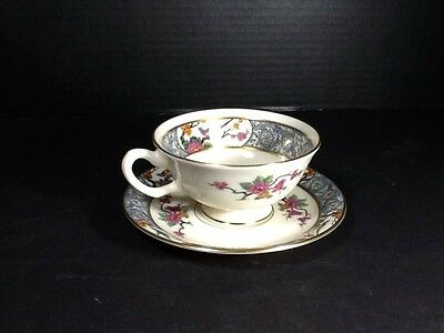 Beautiful Rare Antique Lenox Ming-Bird China  Cup & Saucer