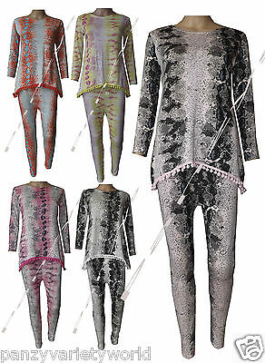 Girls Kid's Snake Print Pom Pom Tracksuit Loungewear 2 piece suit Ages 2-13 yrs