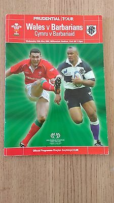 Wales v Barbarians 2002 Signed Rugby Programme
