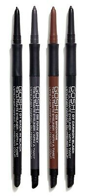 Gosh The Ultimate Eyeliner Waterproof With a Twist & Smudge, high color pay off