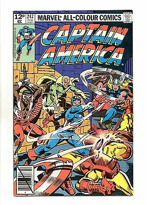 Captain America Vol 1 No 242 Feb 1980 (VFN+ to NM-) Modern Age (1980 - Now)