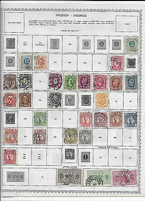 Small lot of Sweden Stamps (lot 1)