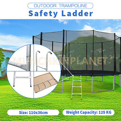 110*36cm 3 Steps Trampoline Safety Ladder Silver Color for 12-16ft trampoline
