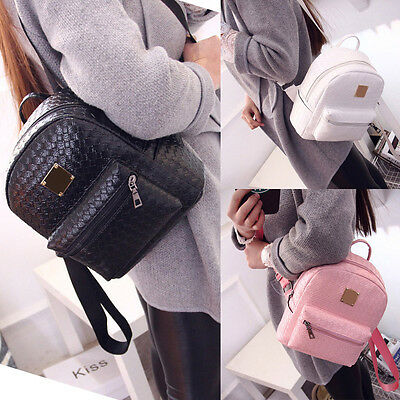Fashion Women Faux Leather Shoulder Bags School Backpack Travel Satchel Rucksack