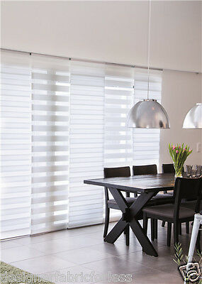 Extendable Day & Night Panel Glide Blinds 200cm-360cm W x 230cm D /Complete Pack