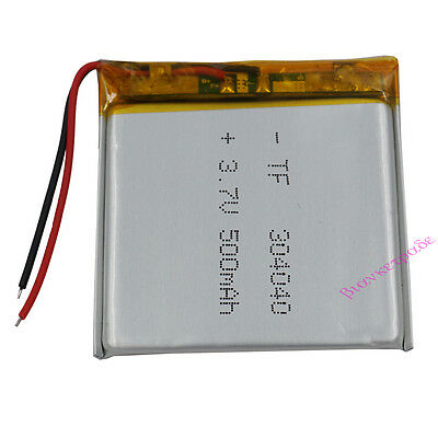 3.7V 500 mAh rechargeable Polymer Li Battery For Mp3 GPS Bluetooth Camera 304040