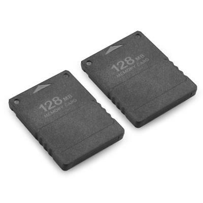 2x 128M Memory Card Black for Sony PlayStation 2 PS2 128MB Storage Capacity
