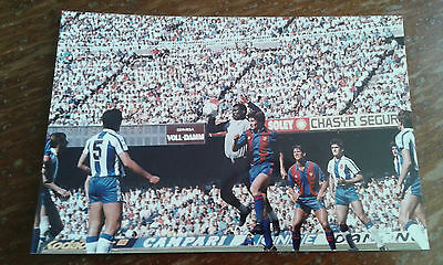FC Barcelona RCD Español Photo Football Futbol Vintage Lineker foto antigua