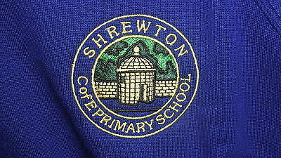 SHREWTON C of E PRIMARY SCHOOL LOGO CREW NECK SWEATSHIRT / SWEAT CARDIGAN NEW